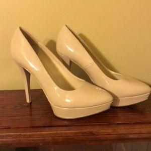Patent cream colored heels